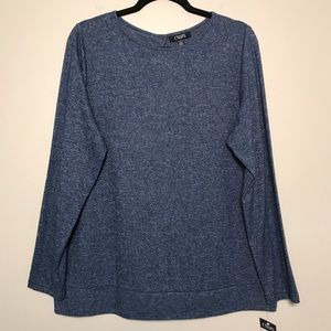 NWT Chaps Woman Sweater Blouse Blue Size 1X